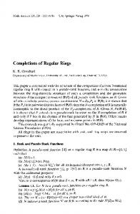 Completions of regular rings