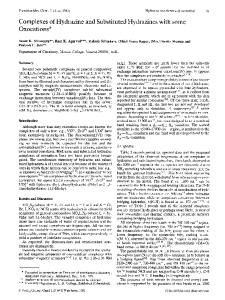Complexes of hydrazine and substituted hydrazines with some oxocations