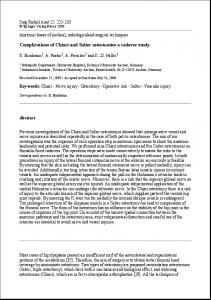 Complications of Chiari and Salter osteotomies a cadaver study