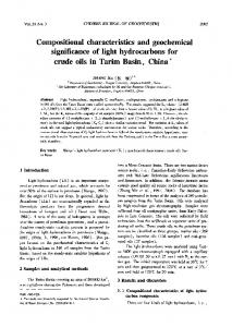 Compositional characteristics and geochemical significance of light hydrocarbons for crude oils in Tarim Basin, China
