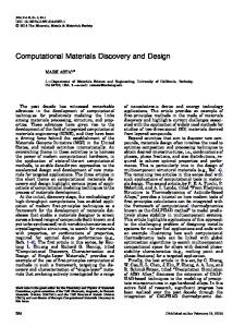 Computational Materials Discovery and Design