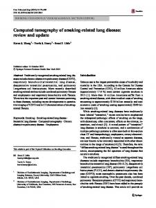 Computed tomography of smoking-related lung disease: review and update