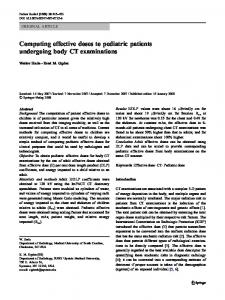Computing effective doses to pediatric patients undergoing body CT examinations