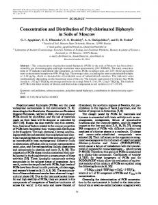 Concentration and distribution of polychlorinated biphenyls in soils of Moscow