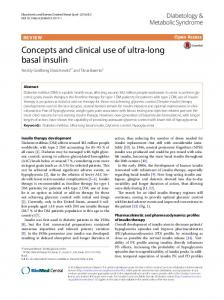 Concepts and clinical use of ultra-long basal insulin