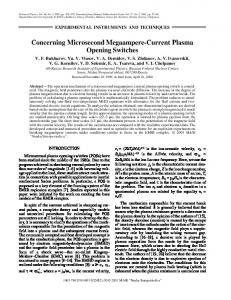 Concerning microsecond megaampere-current plasma opening switches