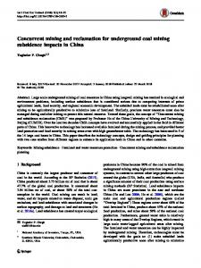 Concurrent mining and reclamation for underground coal mining subsidence impacts in China
