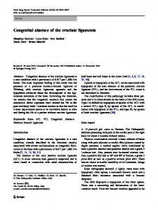 Congenital absence of the cruciate ligaments