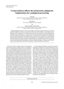 Connectedness affects dot numerosity judgment: Implications for configural processing