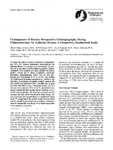 Consequences of routine peroperative cholangiography during cholecystectomy for gallstone disease: A prospective, randomized study