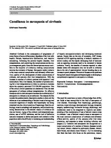 Consilience in sarcopenia of cirrhosis
