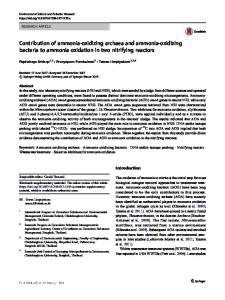Contribution of ammonia-oxidizing archaea and ammonia-oxidizing bacteria to ammonia oxidation in two nitrifying reactors