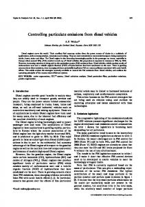 Controlling Particulate Emissions from Diesel Vehicles