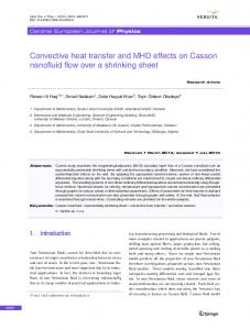 Convective heat transfer and MHD effects on Casson nanofluid flow over a shrinking sheet