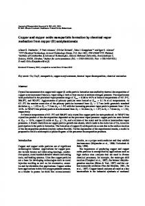 Copper and Copper Oxide Nanoparticle Formation by Chemical Vapor Nucleation From Copper (II) Acetylacetonate