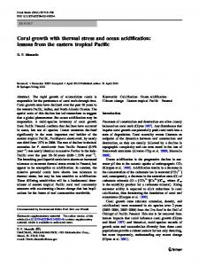 Coral growth with thermal stress and ocean acidification: lessons from the eastern tropical Pacific