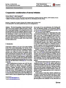 Corpuscular consideration of eternal inflation