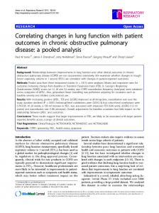 Correlating changes in lung function with patient outcomes in chronic obstructive pulmonary disease: a pooled analysis
