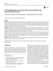 Corticotrophic pituitary carcinoma with cervical metastases: case series and literature review