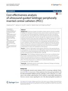 Cost-effectiveness analysis of ultrasound-guided Seldinger peripherally inserted central catheters (PICC)