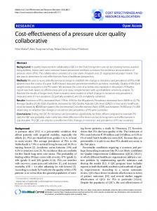 Cost-effectiveness of a pressure ulcer quality collaborative