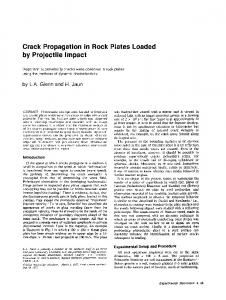 Crack propagation in rock plates loaded by projectile impact