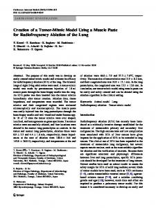 Creation of a Tumor-Mimic Model Using a Muscle Paste for Radiofrequency Ablation of the Lung