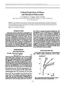 Critical grain sizes of micro-and mezolevel polycrystals