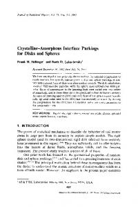 Crystalline—amorphous interface packings for disks and spheres