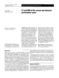 CT and MRI of the normal and diseased perivertebral space