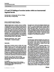 CT and US findings of ovarian torsion within an incarcerated inguinal hernia