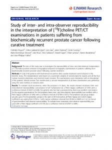 CT examinations in patients suffering from biochemically recurrent prostate cancer following curative treatment