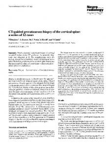 CT-guided percutaneous biopsy of the cervical spine: a series of 12 cases