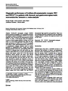 CT in patients with thoracic and gastroenteropancreatic neuroendocrine tumours: a meta-analysis