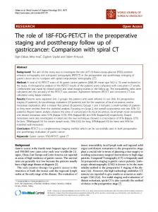 CT in the preoperative staging and posttherapy follow up of gastriccancer:Comparison with spiral CT