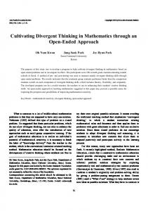 Cultivating divergent thinking in mathematics through an open-ended approach