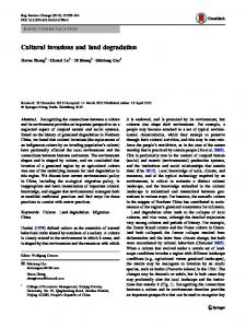 Cultural invasions and land degradation