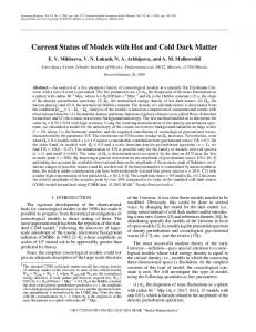 Current status of models with hot and cold dark matter