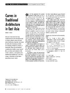 Curves in traditional architecture in East Asia