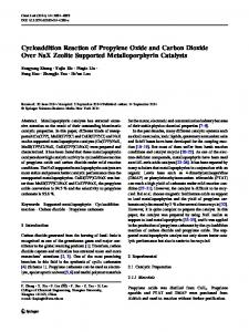 Cycloaddition Reaction of Propylene Oxide and Carbon Dioxide Over NaX Zeolite Supported Metalloporphyrin Catalysts