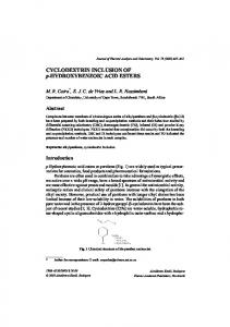 Cyclodextrin inclusion of p-hydroxybenzoic acid esters
