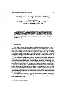 Decomposition in single-machine scheduling