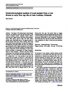 Dendrochronological analyses of wood samples from a Late Bronze to early Iron Age site at Lake Luokesa, Lithuania