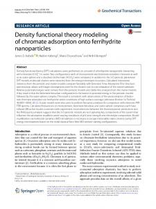 Density functional theory modeling of chromate adsorption onto ferrihydrite nanoparticles