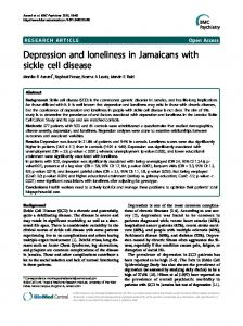 Depression and loneliness in Jamaicans with sickle cell disease