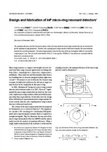 Design and fabrication of InP micro-ring resonant detectors