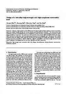 Design of a low-alloy high-strength and high-toughness martensitic steel