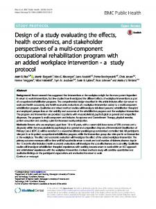 Design of a study evaluating the effects, health economics, and stakeholder perspectives of a multi-component occupational rehabilitation program with an added workplace intervention - a  study protocol