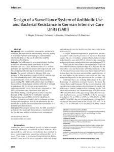 Design of a Surveillance System of Antibiotic Use and Bacterial Resistance in German Intensive Care Units (SARI)