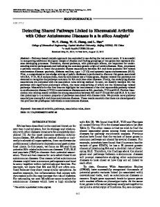Detecting shared pathways linked to rheumatoid arthritis with other autoimmune diseases in a in silico analysis